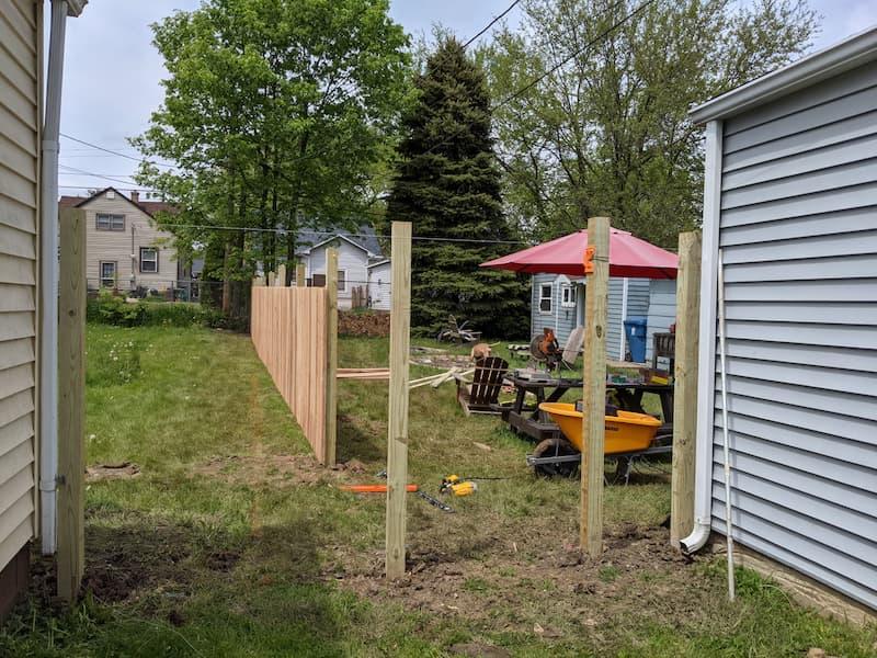 diy wood fence post installation